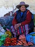 Peruvian woman Stock Photo