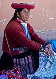 Peruvian woman Royalty Free Stock Image