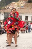 Peruvian woman in traditional dress Royalty Free Stock Photography