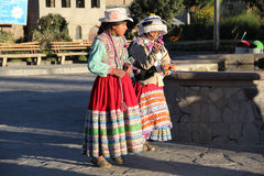 Peruvian women Royalty Free Stock Photos