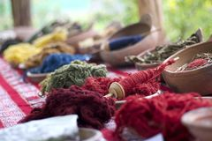 Peruvian Wool and Textiles. From llama Stock Image