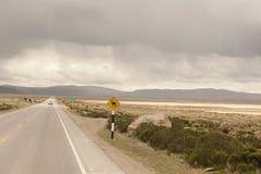 Peruwiańska jezdnia Outdoors zdjęcia royalty free