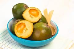 Peruwiańska owoc Nazwany Lucuma zdjęcia stock
