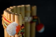 Peruwiański instrument muzyczny robić bambus Zdjęcia Royalty Free