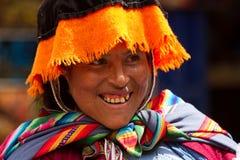 Peruwiański kobiety ono Uśmiecha się Zdjęcie Royalty Free
