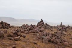 Peruwiańskie pustyni skały obraz stock