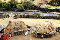 Peruwiańska górska wioska Fotografia Stock