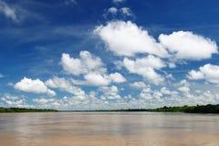 Peruwiański Amazonas, Maranon rzeki krajobraz Zdjęcie Royalty Free