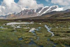 Peruwiański Andes krajobraz fotografia stock