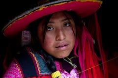 Peruwiański tkacz Fotografia Royalty Free
