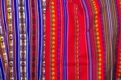 Peruwiańskie tkaniny Fotografia Stock