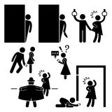 Pervert Stalker Physco Molester Pictogram Royalty Free Stock Photos