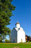 Peryn Chapel, also known as Church of the Nativity of the Theotokos on Peryn Skete in Veliky Novgorod, Russia. Architecture landscape - Peryn Chapel, also known Stock Images