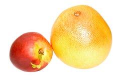 Perzik en grapefruit. Stock Afbeelding
