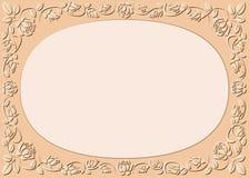 Perzik-gekleurde achtergrond Stock Afbeelding