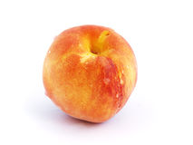 Perzik met dalingen Stock Afbeelding