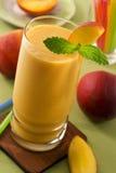 Perzik smoothie Stock Foto's
