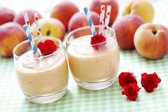 Perzik smoothie Royalty-vrije Stock Fotografie