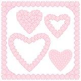 Perzikbloemen in hartvorm Royalty-vrije Stock Afbeeldingen