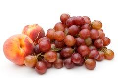 Perziken en druif. Royalty-vrije Stock Afbeelding