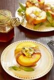 Perziken met bacon Royalty-vrije Stock Afbeelding