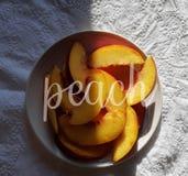 Perzikfruit stock afbeeldingen