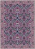 Perzisch gedetailleerd tapijt Royalty-vrije Stock Afbeelding