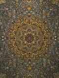 Perzisch het Tapijtpatroon van Royal Palace, Perzisch tapijt met een Ingewikkeld ontwerp stock foto