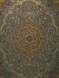 Perzisch het Tapijtpatroon van Royal Palace, Perzisch tapijt met een Ingewikkeld ontwerp stock afbeelding