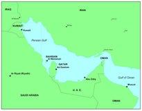Perzische Golf Royalty-vrije Stock Afbeeldingen