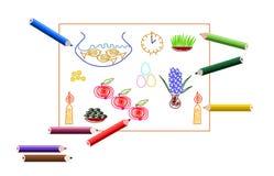 Perzische Nieuwjaarskaart Stock Fotografie