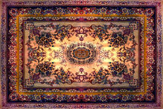 Perzische Tapijttextuur, abstract ornament Rond mandalapatroon, de Traditionele Textuur Van het Middenoosten van de Tapijtstof Tu Stock Afbeeldingen