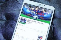 PES 2017, υπέρ ποδόσφαιρο app εξέλιξης Στοκ Εικόνες