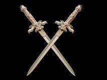 épées foncées croisées Image libre de droits