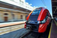 从PESA的波兰火车矮子 库存图片