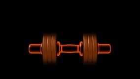 Pesa de gimnasia ardiente. vídeo enmarañado alfa stock de ilustración