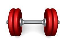 Pesa de gimnasia roja Imagen de archivo libre de regalías