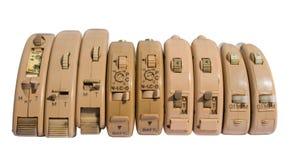 pesadamente - prótese auditivas usadas Fotografia de Stock