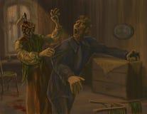 Pesadilla de Raskolnikov stock de ilustración