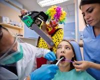 Pesadilla dental fotografía de archivo libre de regalías