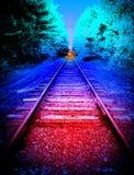 Pesadilla en una vía del tren foto de archivo libre de regalías