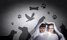 Pesadillas de los niños Imagen de archivo libre de regalías