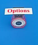 Pesage des options Photographie stock libre de droits