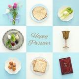Pesah庆祝概念& x28; 犹太逾越节holiday& x29; 库存照片