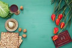 Pesah庆祝概念& x28; 犹太逾越节holiday& x29; 库存图片