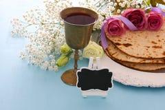 Pesah庆祝概念& x28; 犹太逾越节holiday& x29; 免版税库存照片