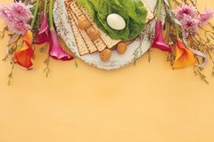 Pesah świętowania pojęcie & x28; żydowski Passover holiday& x29; obraz royalty free
