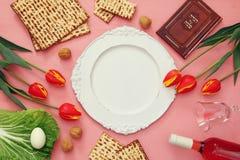 Pesah świętowania pojęcie & x28; żydowski Passover holiday& x29; fotografia stock
