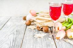 Pesah, żydowski Passover wakacje tło zdjęcie royalty free