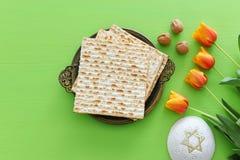 Pesah celebration concept jewish Passover holiday. stock photo